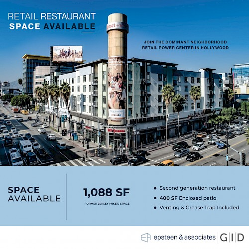 Restaurant Space Available - Sunset + Vine